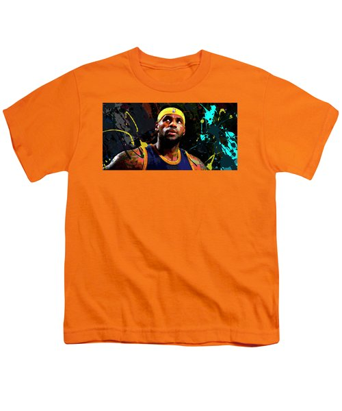 Lebron Youth T-Shirt by Richard Day