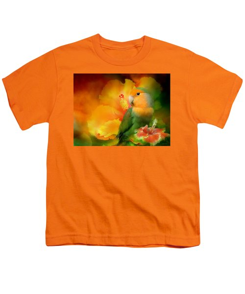 Love Among The Hibiscus Youth T-Shirt