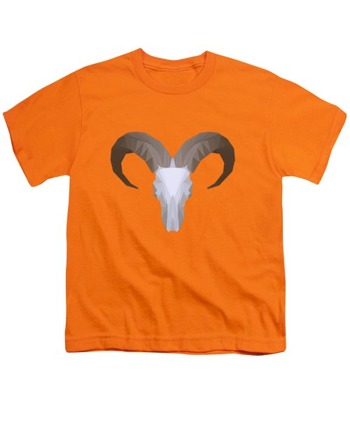 Low Poly Aoudad Youth T-Shirt