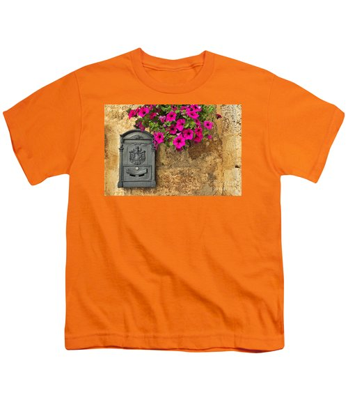 Mailbox With Petunias Youth T-Shirt