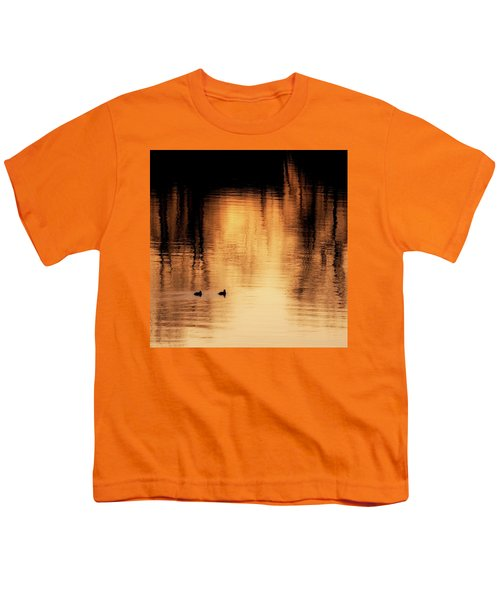Youth T-Shirt featuring the photograph Morning Ducks 2017 Square by Bill Wakeley