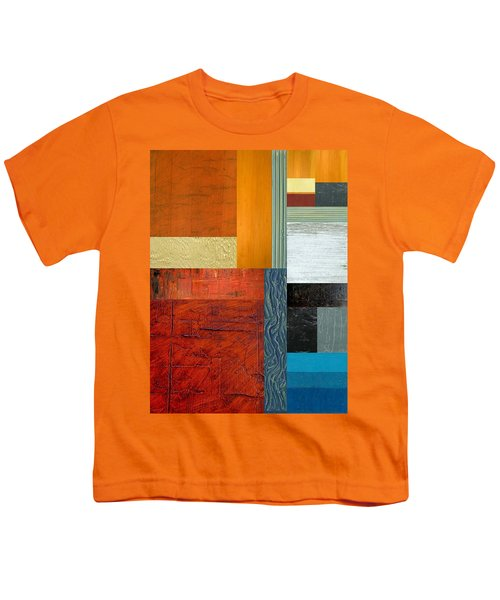 Youth T-Shirt featuring the painting Orange Study With Compliments 1.0 by Michelle Calkins