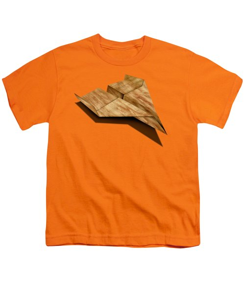 Paper Airplanes Of Wood 5 Youth T-Shirt by YoPedro