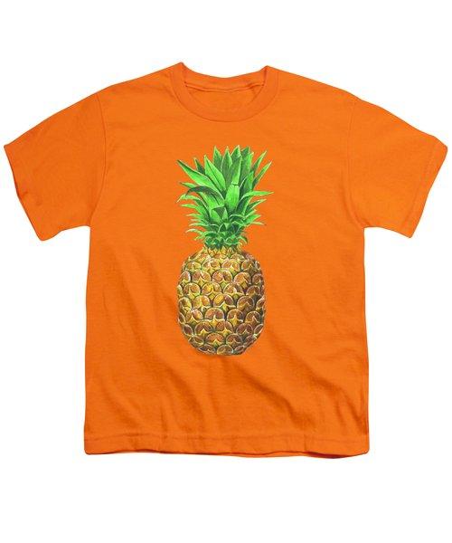 Pineapple, Tropical Fruit Youth T-Shirt by Katerina Kirilova