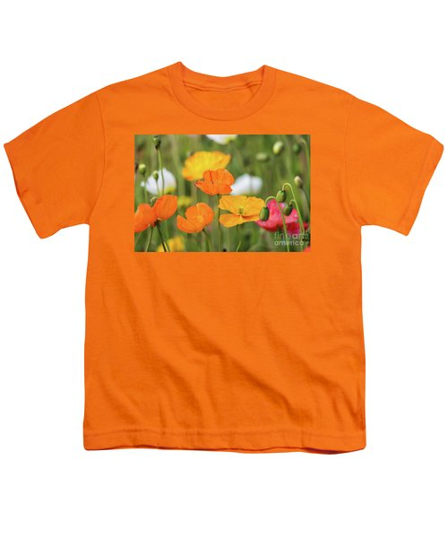 Youth T-Shirt featuring the photograph  Poppies 1 by Werner Padarin
