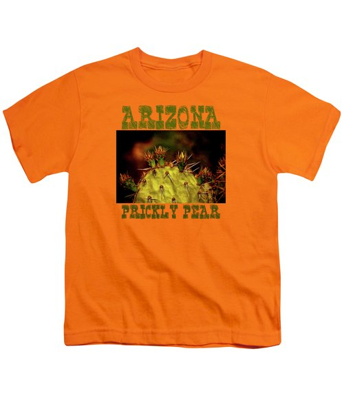 Prickly Pear Spring Youth T-Shirt by Roger Passman