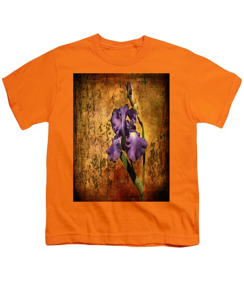 Purple Iris At Sunset Youth T-Shirt