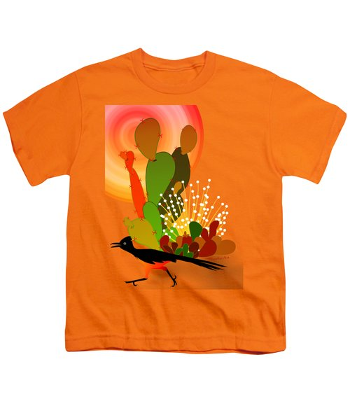 Roadrunner Sunrise Youth T-Shirt by Methune Hively