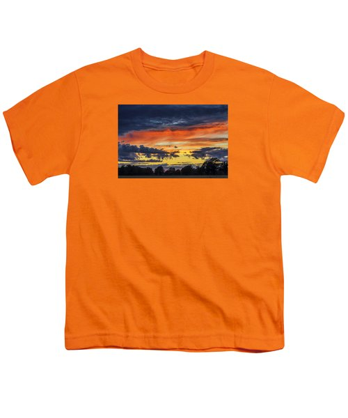 Youth T-Shirt featuring the photograph Scottish Sunset by Jeremy Lavender Photography