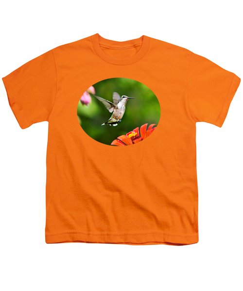 Shimmering Breeze Hummingbird Youth T-Shirt