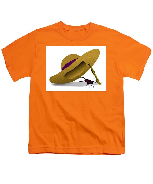 Straw Hat And Stag Beetle Youth T-Shirt
