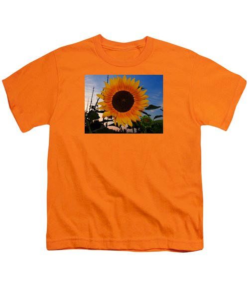 Sunflower In The Evening Youth T-Shirt