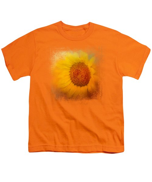 Sunflower Surprise Youth T-Shirt by Jai Johnson