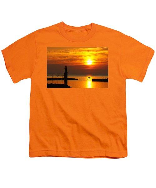 Sunrise Brushstrokes Youth T-Shirt by Bill Pevlor