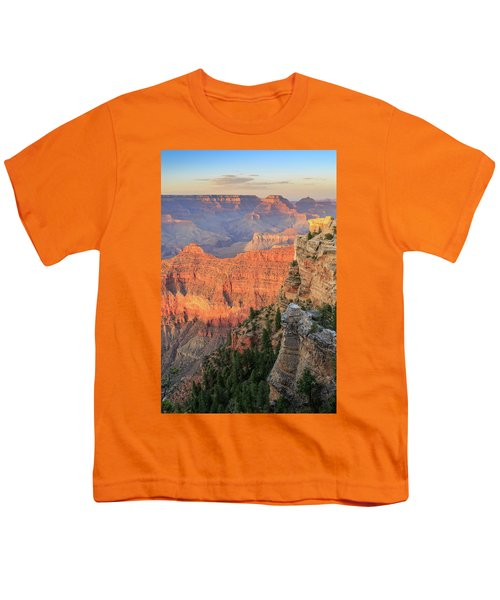 Youth T-Shirt featuring the photograph Sunset At Mather Point by David Chandler