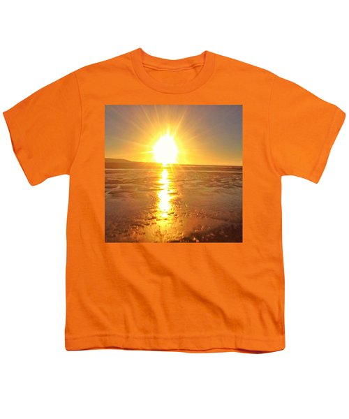 Sunset In College. #sunset  #sun Youth T-Shirt