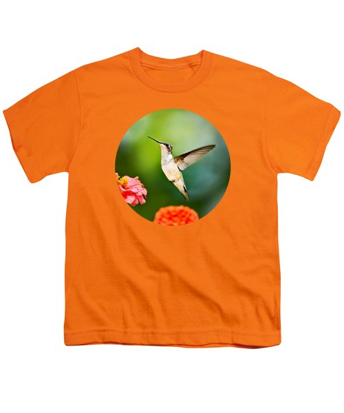 Sweet Promise Hummingbird Youth T-Shirt by Christina Rollo