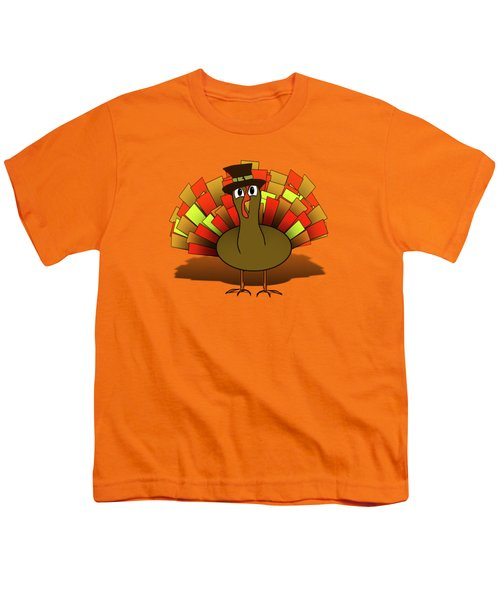 Thanksgiving Turkey Pilgrim Youth T-Shirt