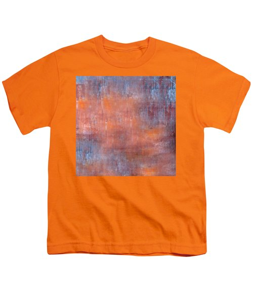 Youth T-Shirt featuring the digital art The Orange Fog by Mihaela Stancu