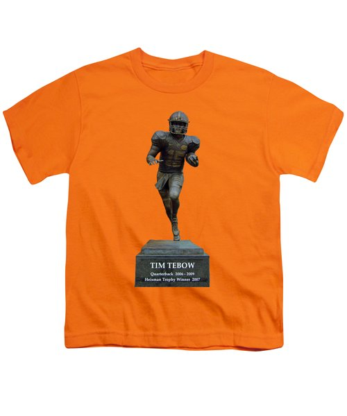 Tim Tebow Transparent For Customization Youth T-Shirt by D Hackett