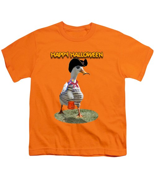 Trick Or Treat For Cap'n Duck Youth T-Shirt by Gravityx9 Designs