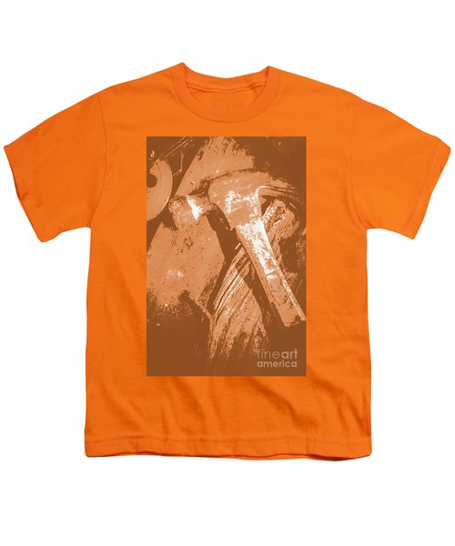 Vintage Miners Hammer Artwork Youth T-Shirt
