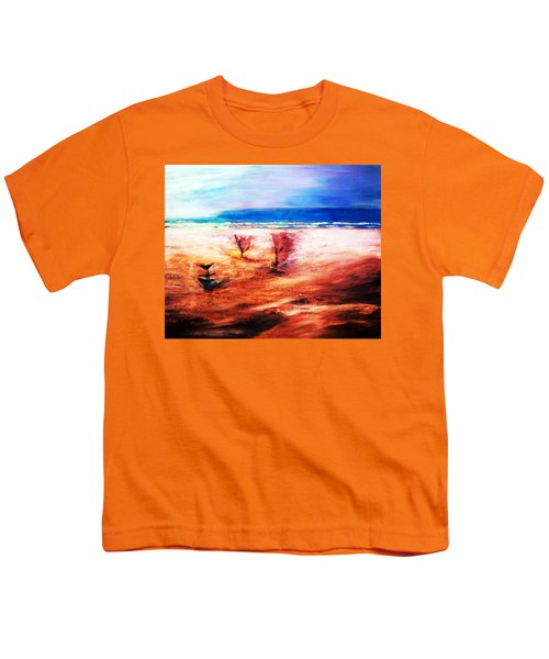 Youth T-Shirt featuring the painting Water And Earth by Winsome Gunning