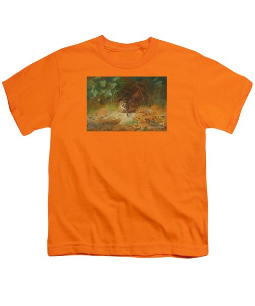 Woodcock Youth T-Shirt by Celestial Images