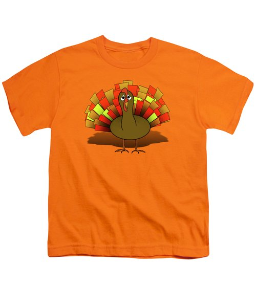 Worried Turkey Illustration Youth T-Shirt