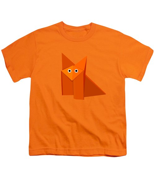 Yellow Cute Origami Fox Youth T-Shirt