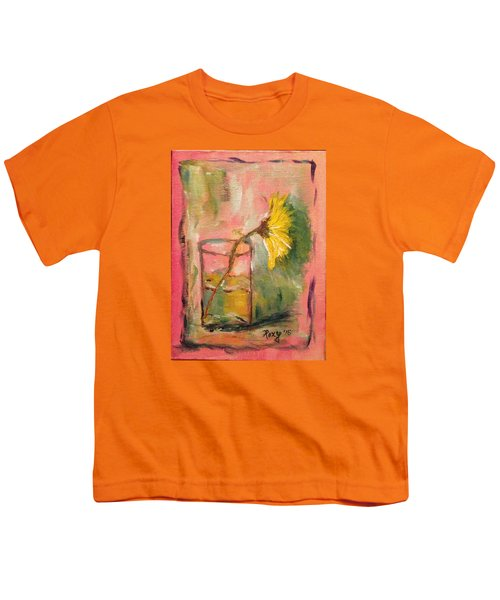 Yellow Daisy In A Glass Youth T-Shirt