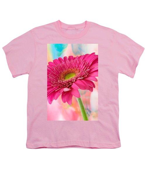 Gerbera Daisy Abstract Youth T-Shirt