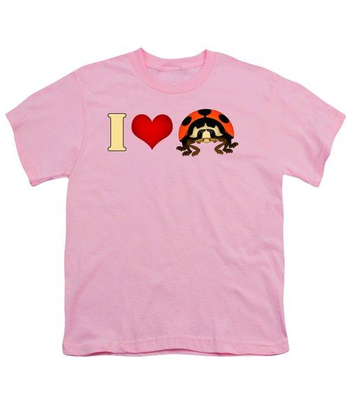 I Love Ladybugs Youth T-Shirt