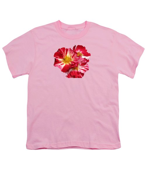 July 4th Rose Youth T-Shirt by M E Cieplinski