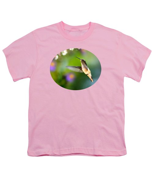 Garden Hummingbird Youth T-Shirt