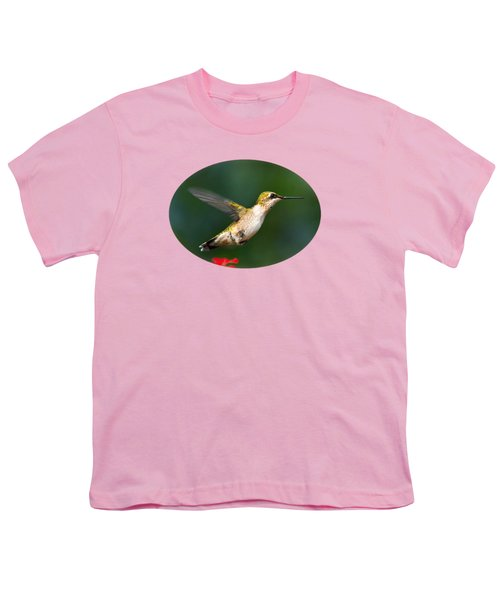 Summer Hummingbird Youth T-Shirt by Christina Rollo