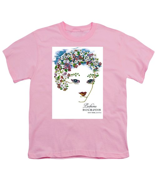 Youth T-Shirt featuring the digital art Bourjois by ReInVintaged