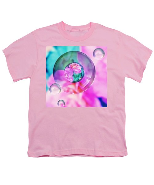 Bubble Roses Youth T-Shirt by Anna Porter