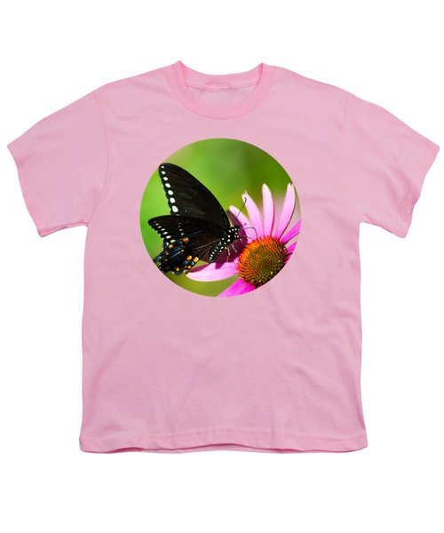 Butterfly In The Sun Youth T-Shirt by Christina Rollo