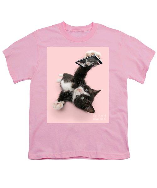Cat Selfie Youth T-Shirt