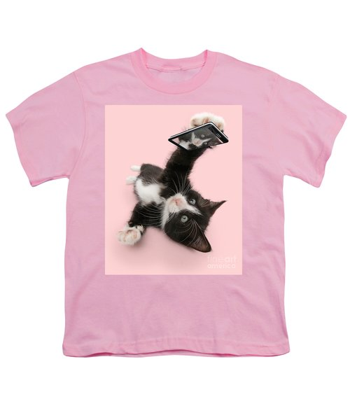 Cat Selfie Youth T-Shirt