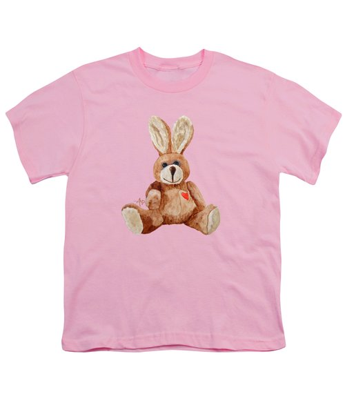 Cuddly Care Rabbit Youth T-Shirt by Angeles M Pomata
