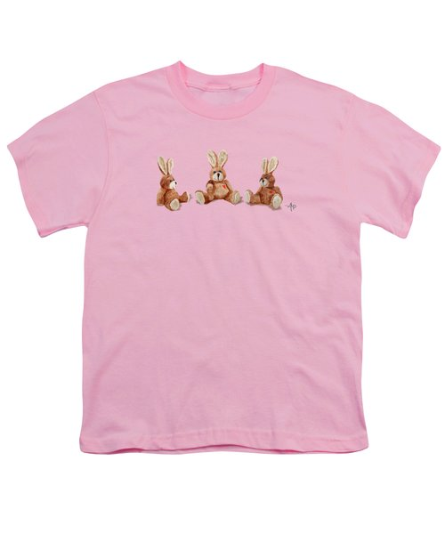 Cuddly Care Rabbit II Youth T-Shirt by Angeles M Pomata
