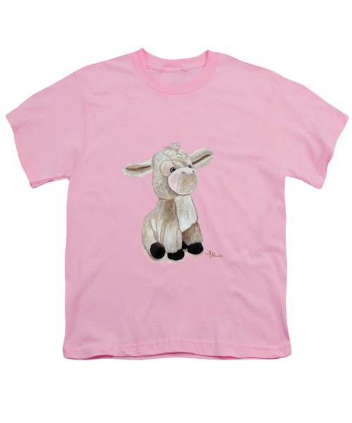 Cuddly Donkey Watercolor Youth T-Shirt