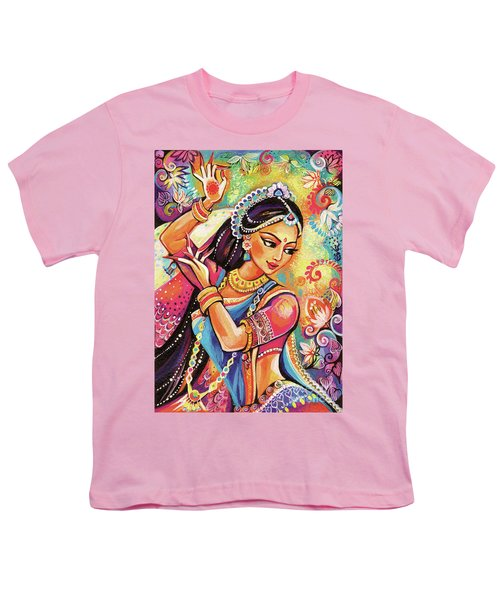 Youth T-Shirt featuring the painting Dancing Of The Phoenix by Eva Campbell