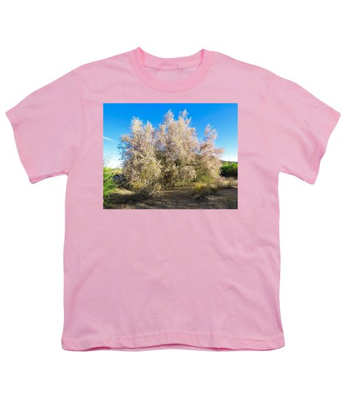 Desert Ironwood Tree In Bloom - Early Morning Youth T-Shirt