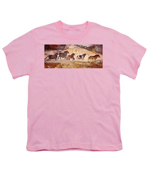 Lascaux Horses Youth T-Shirt