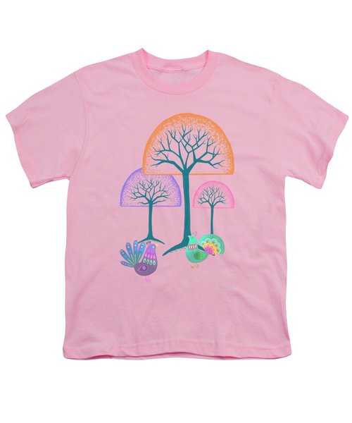Moon Bird Forest Youth T-Shirt by Little Bunny Sunshine