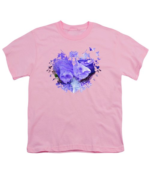 Pretty Purple Youth T-Shirt by Anita Faye