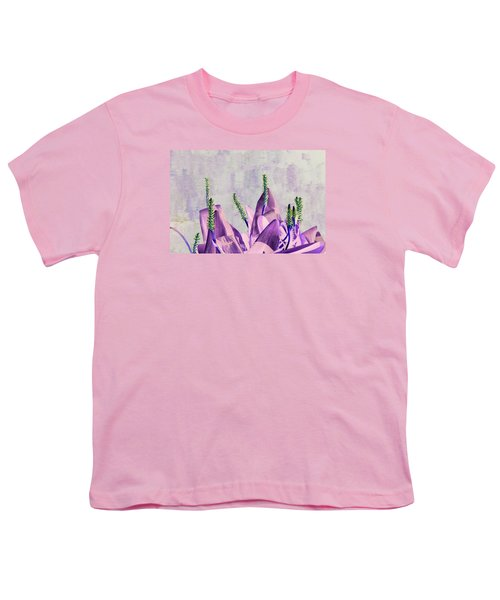 Purple Water Plant Youth T-Shirt